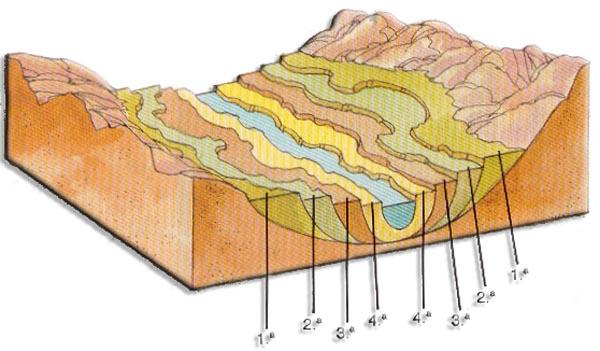 Biolog asur procesos geol gicos externos y sus riesgos for Terrazas fluviales